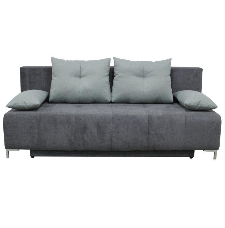 Rozkladacia pohovka s úložným priestorom, sv. sivá/ ružová, GILET
