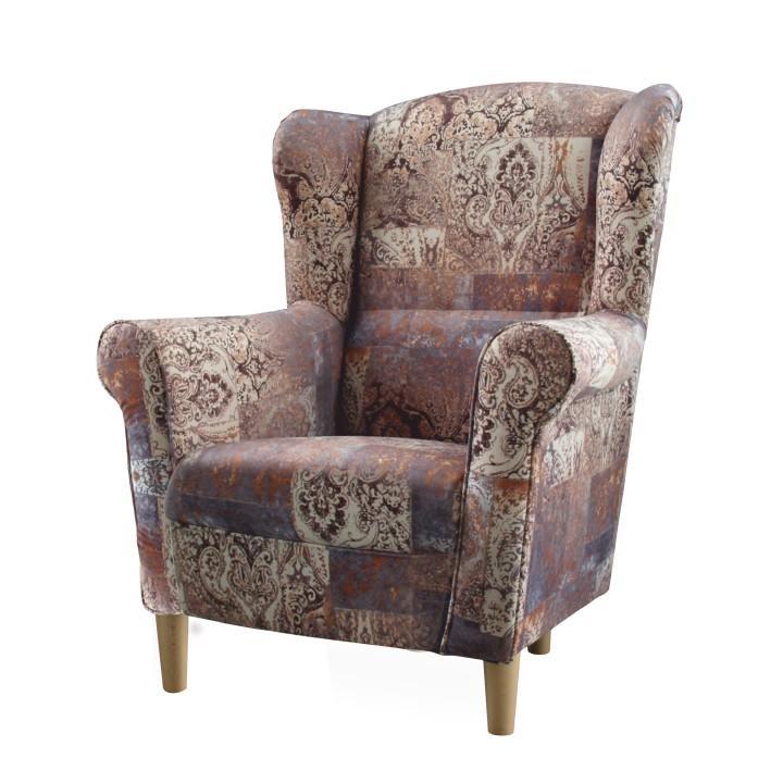 Fotel,szövet vintage barna 1026, Charlot