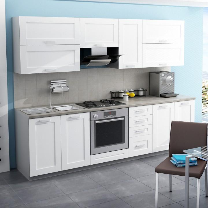 d4752ea251ed TEMPO KONDELA Moderná kuchynská zostava za fantastickú cenu do každej  kuchyne v prevedení MDF biela