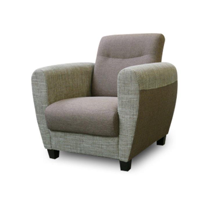 Fotel, barna, MILO