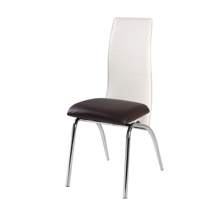 Jedálenská stolička, tmavohnedá/béžová, DOUBLE