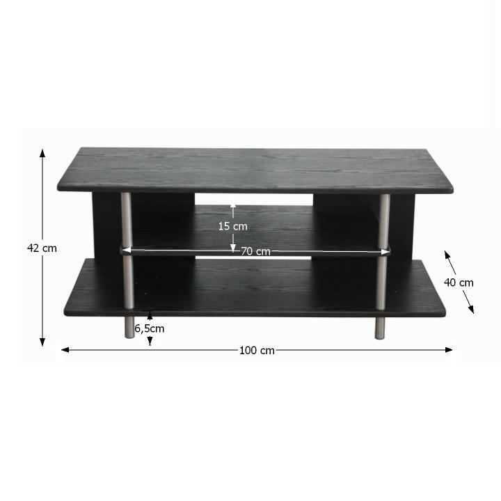 TV stolek, černá / stříbrná, Quido, TEMPO KONDELA