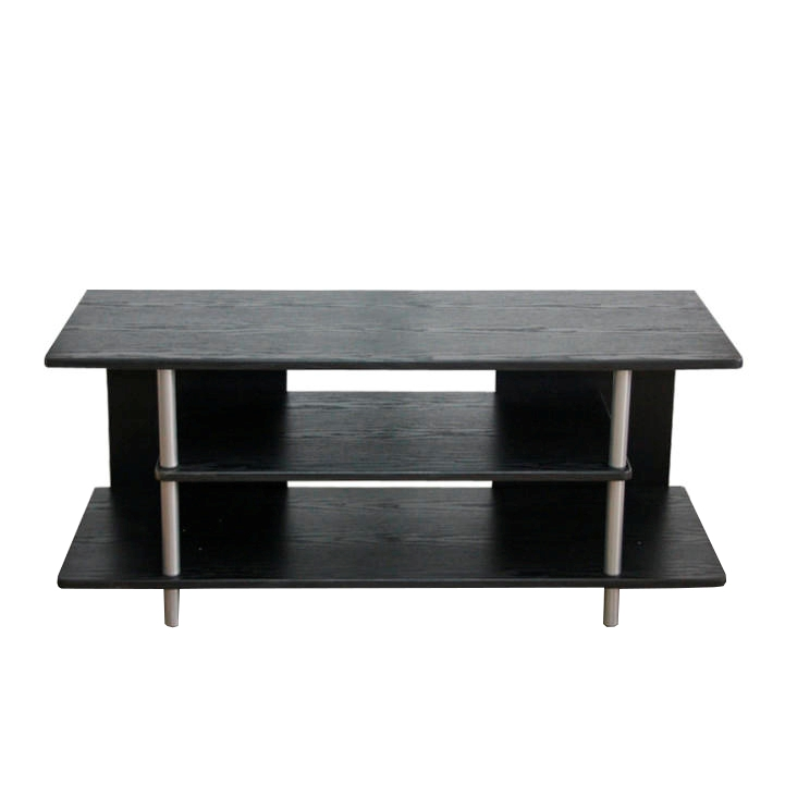 TV asztal, fekete/ezüst, QUIDO