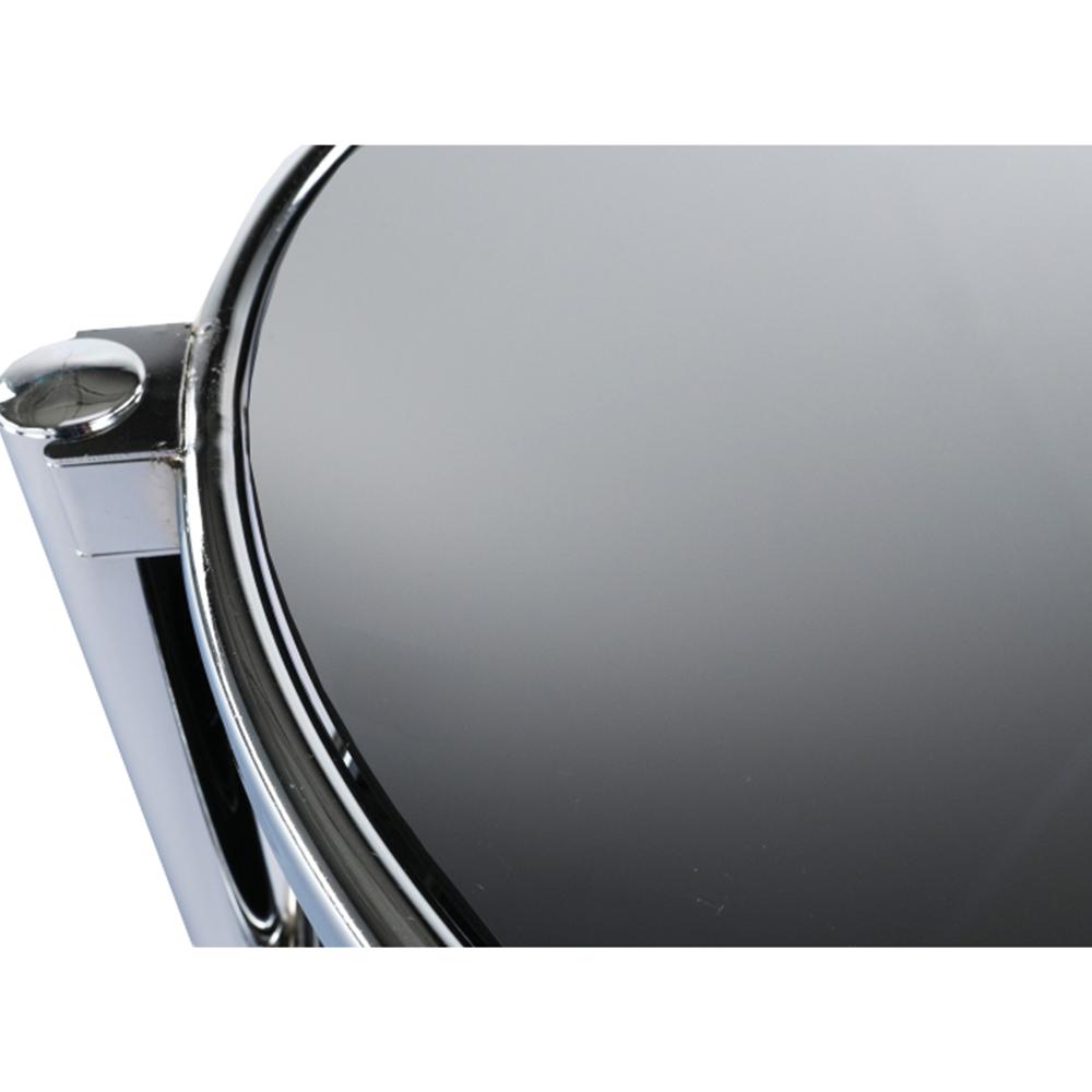Otočný konferenční stolek, černé sklo / chrom, MOIRA, TEMPO KONDELA