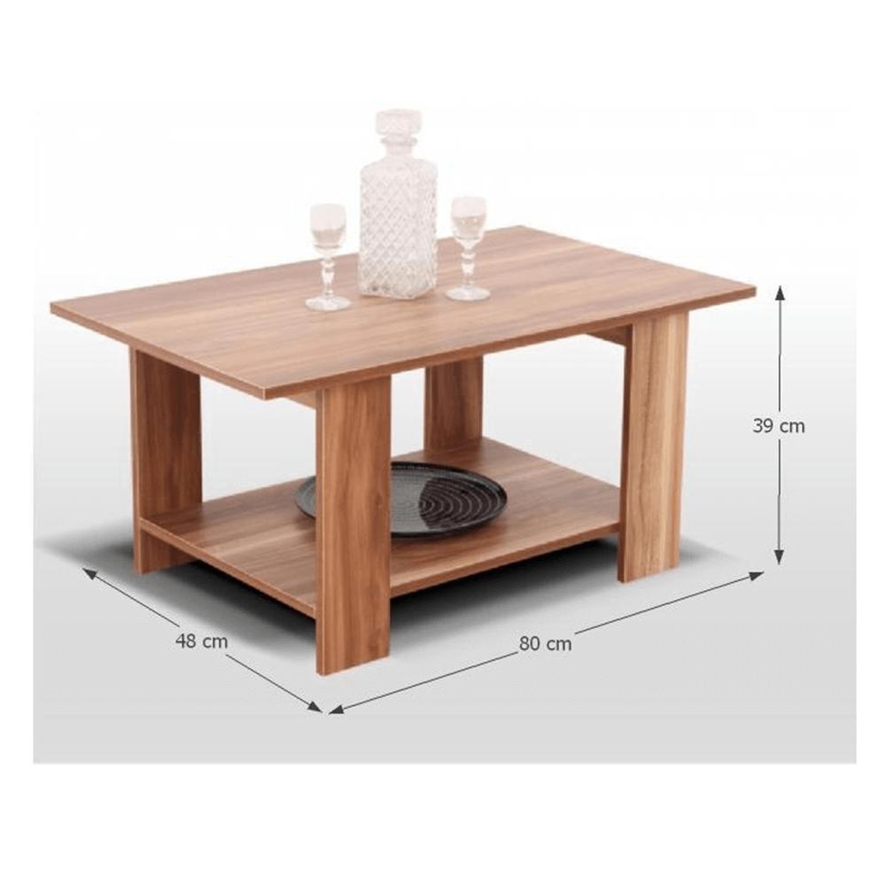Konferenční stolek, francouzský ořech, DEREK, TEMPO KONDELA