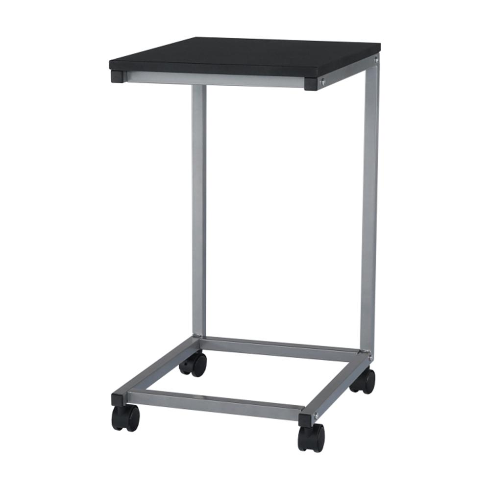Příruční stolek, černá/kov stříbrná, MANNY, TEMPO KONDELA