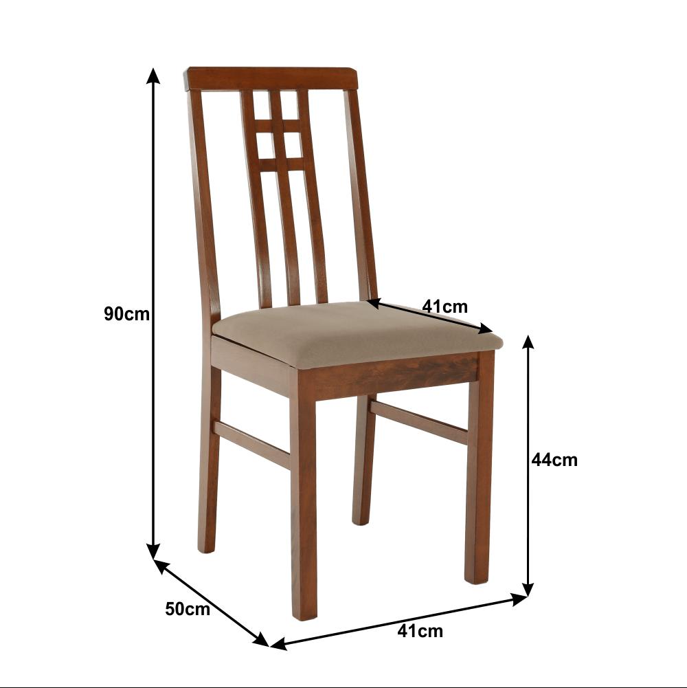 Židle, tmavý dub /látka šedobéžová, SILAS, TEMPO KONDELA