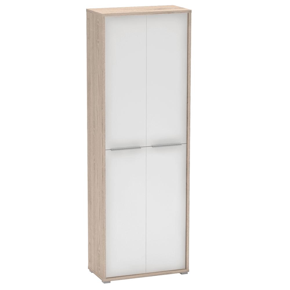 Irodai szekrény polcokkal, san remo/fehér, RIOMA 05