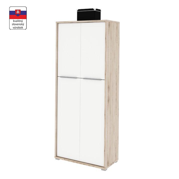Polcos szekrény,san remo/fehér,RIOMA typ 07