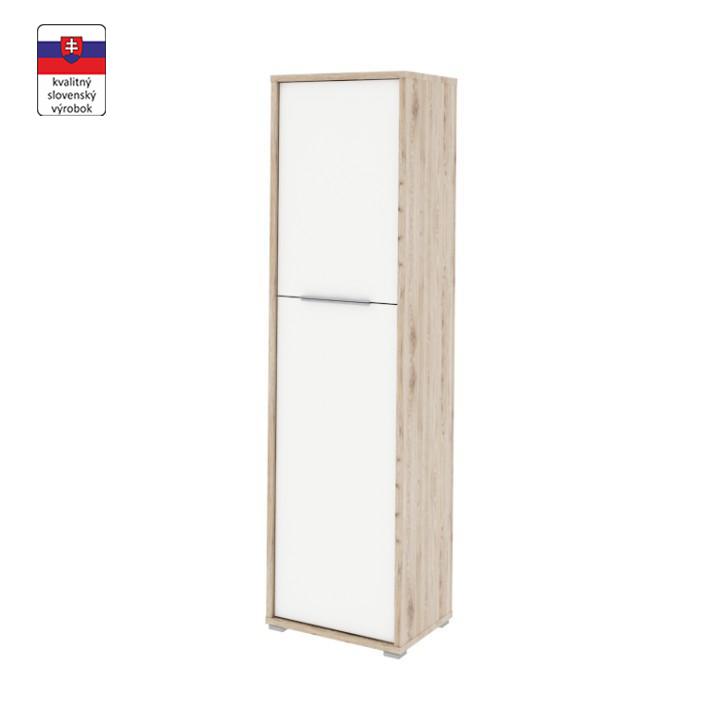 Polcos szekrény,san remo/fehér,RIOMA typ 08