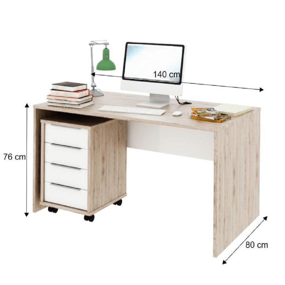 Számítógépasztal, san remo/fehér, RIOMA typ 11
