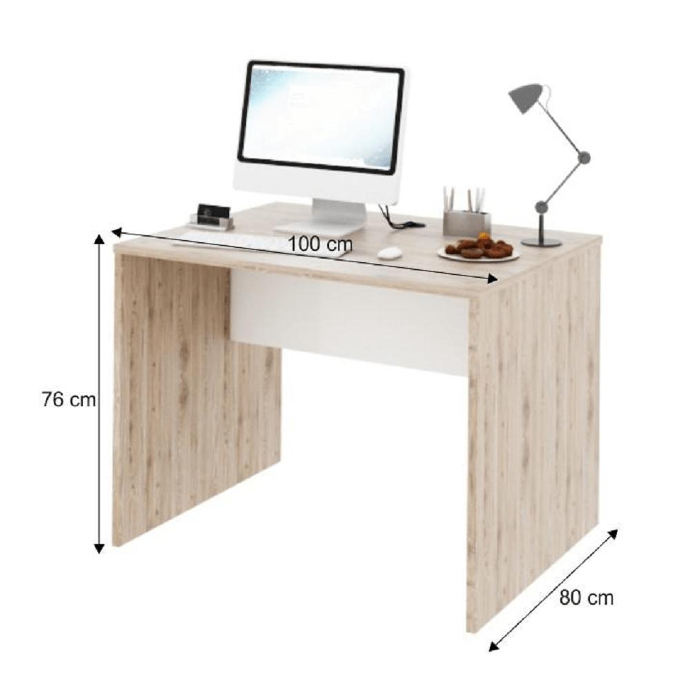 Számítógépasztal,san remo/fehér, RIOMA typ 12