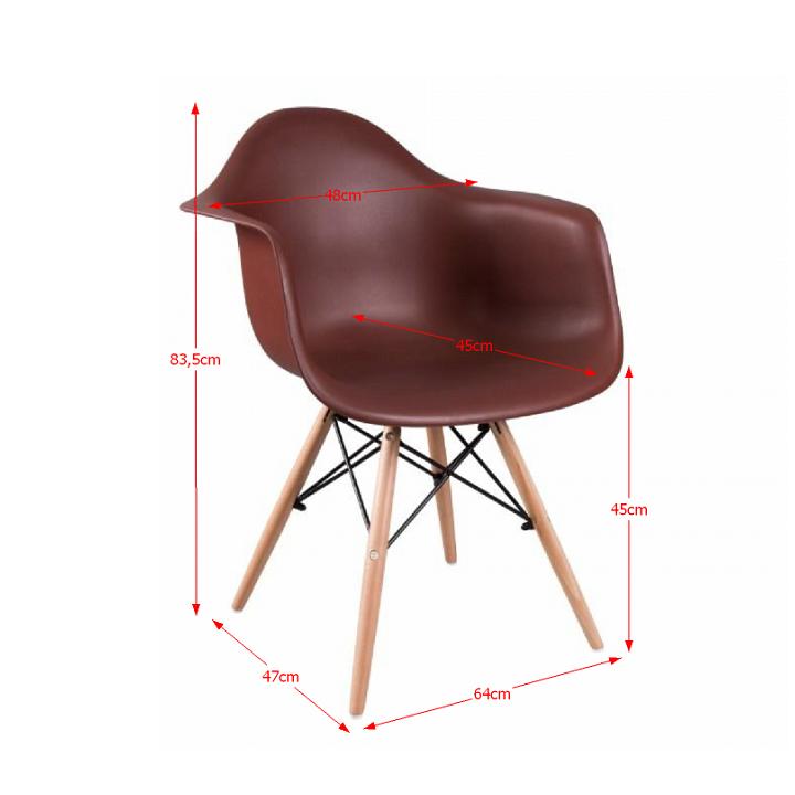 Fotel, bükkfa + barna, DAMEN