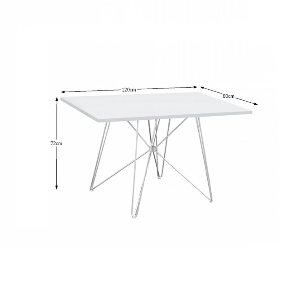 Étkezőasztal, MDF / magas fényű fehér HG, ARTEM