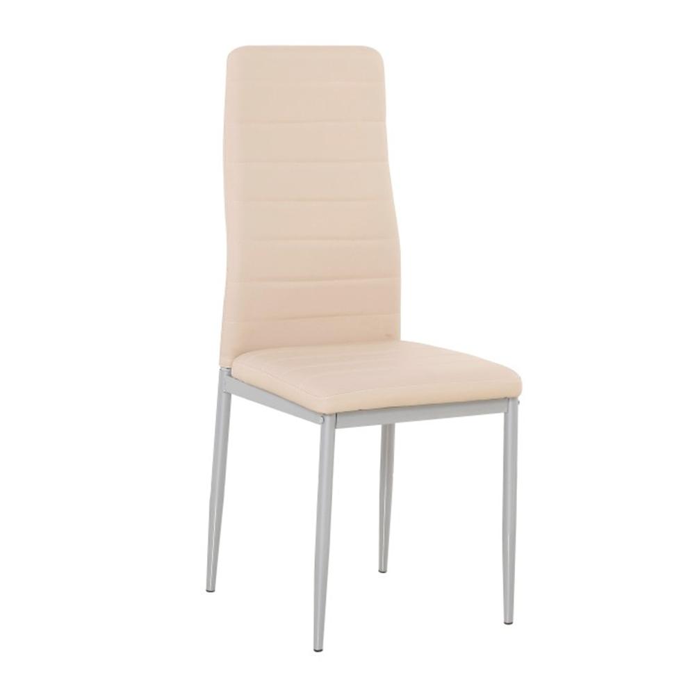 Židle, ekokůže pudrová růžová / šedý kov, COLETA NOVA, TEMPO KONDELA