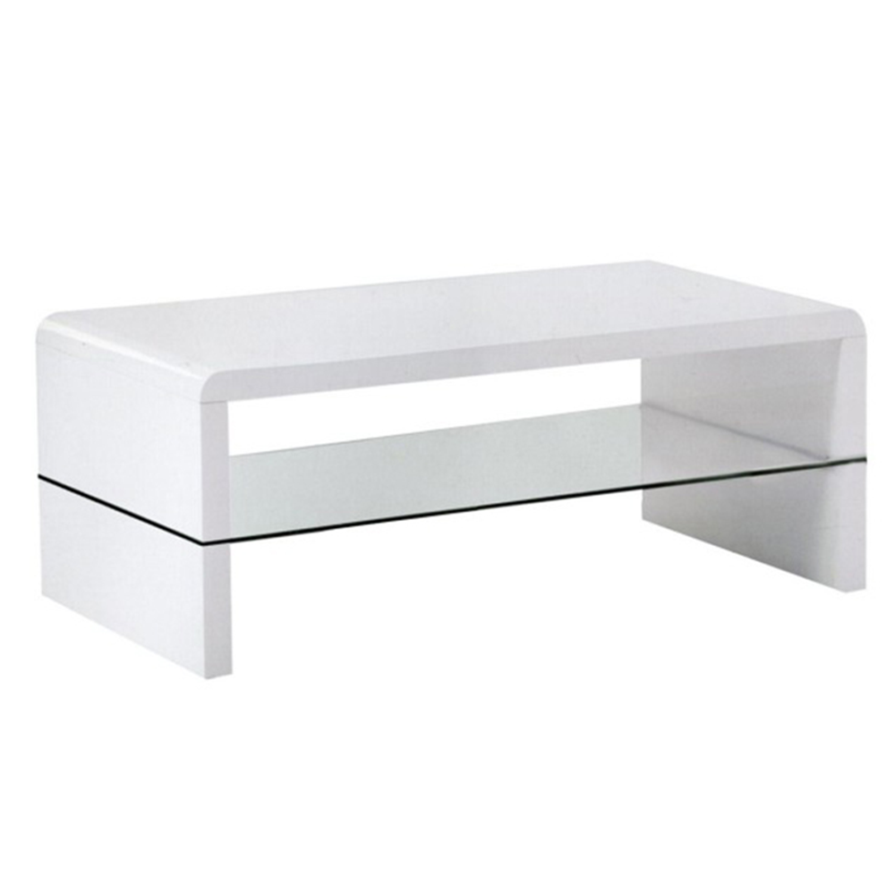 Konferenční stolek, bílá extra vysoký lesk HG, HAGY