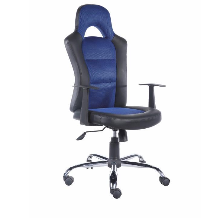 irodai szék,kékszövet + fekete textilbőr, STANT