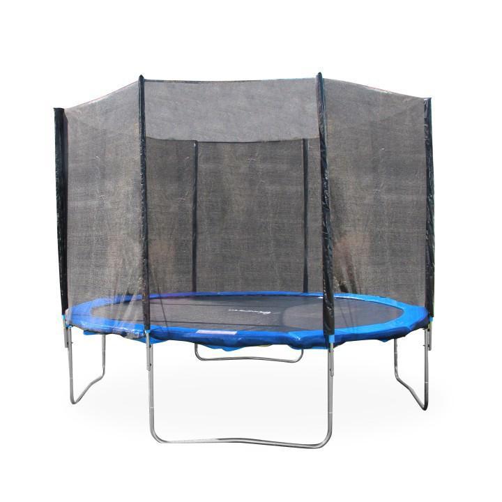 TEMPO KONDELA Trampolína s ochrannou sieťou, 183 cm, modrá/čierna, JUMPY 1 - Tempo nábytek