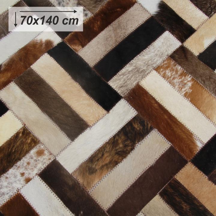 Luxusný koberec, pravá koža, 70x140 , KOŽA TYP 2