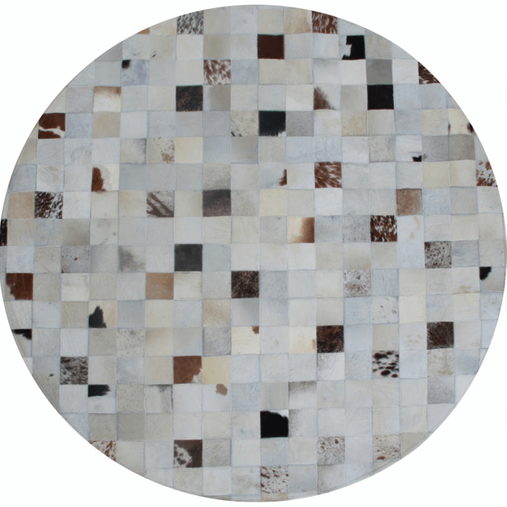 Luxusní koberec, pravá kůže, 200x200, KŮŽE TYP 10, TEMPO KONDELA