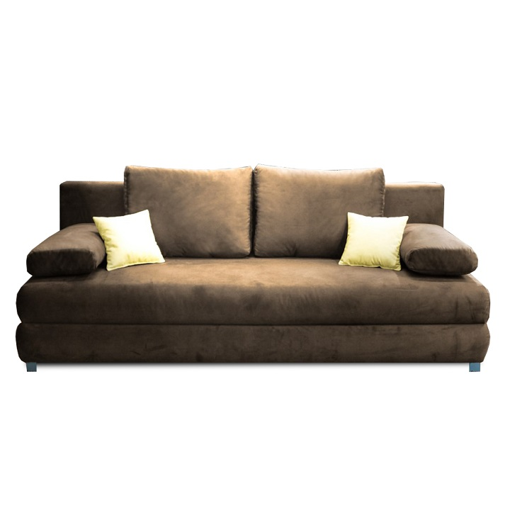 CLIV kanapé, ágyfunkcióval és ágyneműtartóval, Aria 03 capuccino/bézs