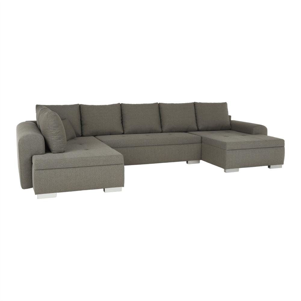U alakú ülőgarnitúra, szürkésbarna, FRANKFURT NEW