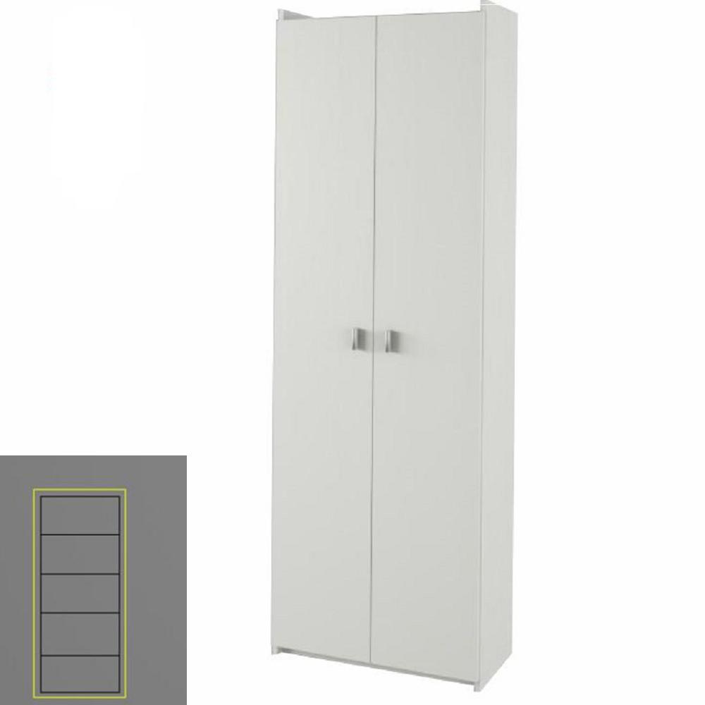 Praktikus polcos szekrény, fehér, NATALI TYP 2