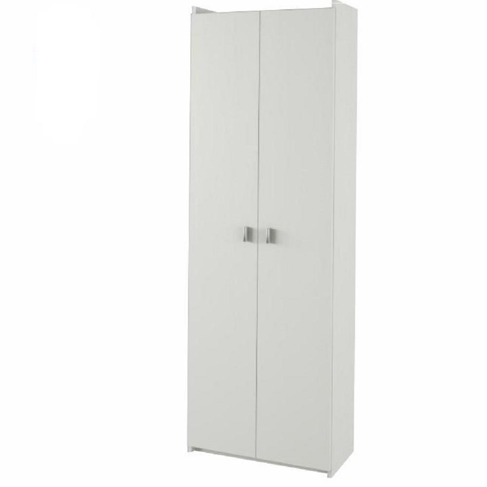 Polcos szekrény, DTD laminált, fehér, NATALI  TIP 2