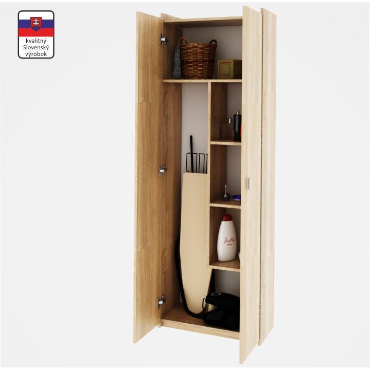 Praktikus kombinált szekrény, sonoma tölgyfa, NATALI TYP 6