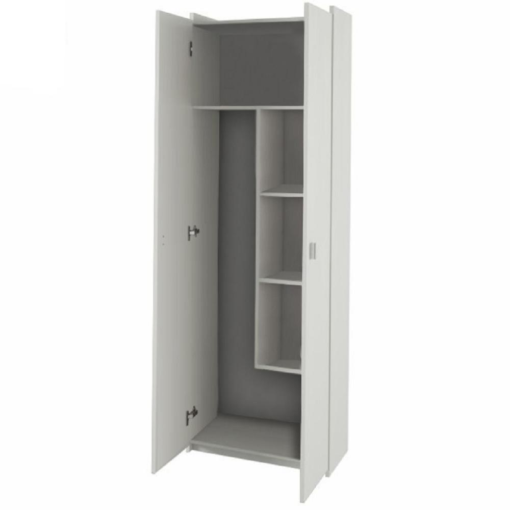 Kombinált szekrény, DTD laminált, fehér, NATALI TIP 6