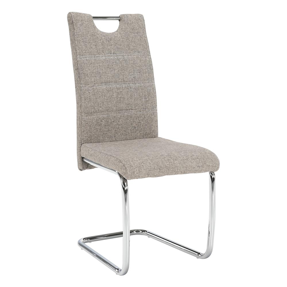 Jedálenská stolička, béžová/svetlé šitie, ABIRA NEW