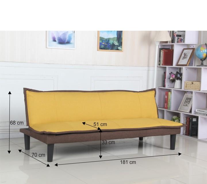 FILA elegáns ágyazható kanapé sárga/barna