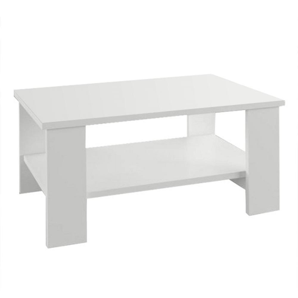 Dohányzóasztal, fehér, BERNARDO