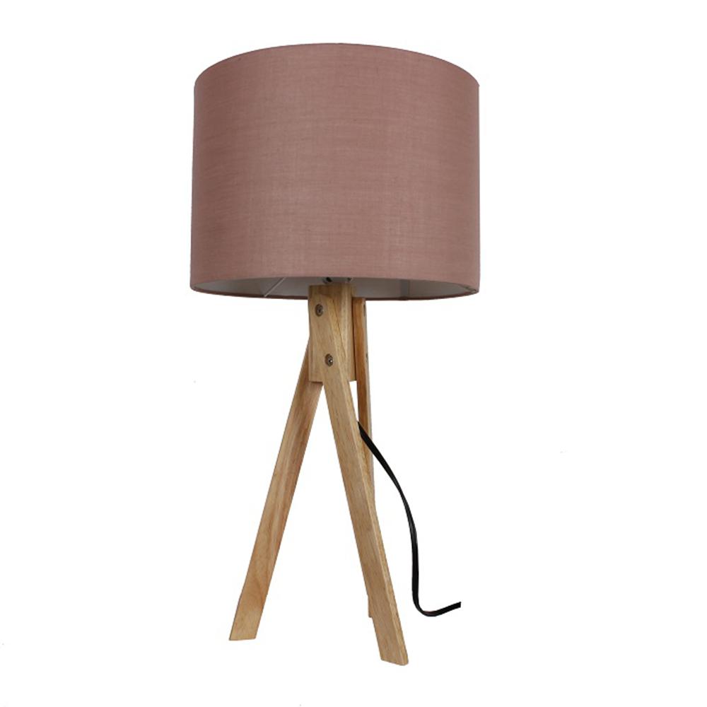 Lampă de masă, taupe maro/lemn natural, LILA TYP 3 LS2002