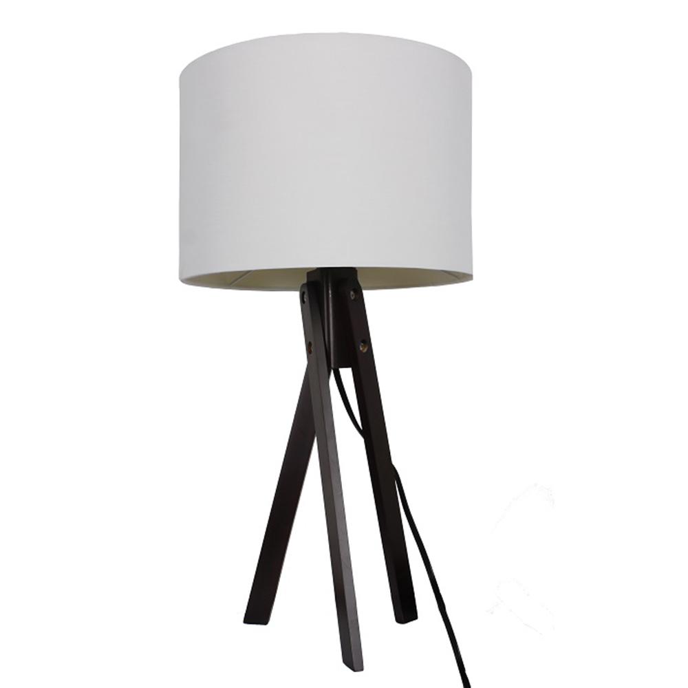 Lampă de masă, alb/lemn negru, LILA TYP 4 LS2002