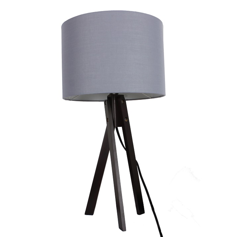 Lampă de masă, gri/lemn negru, LILA TYP 5 LS2002