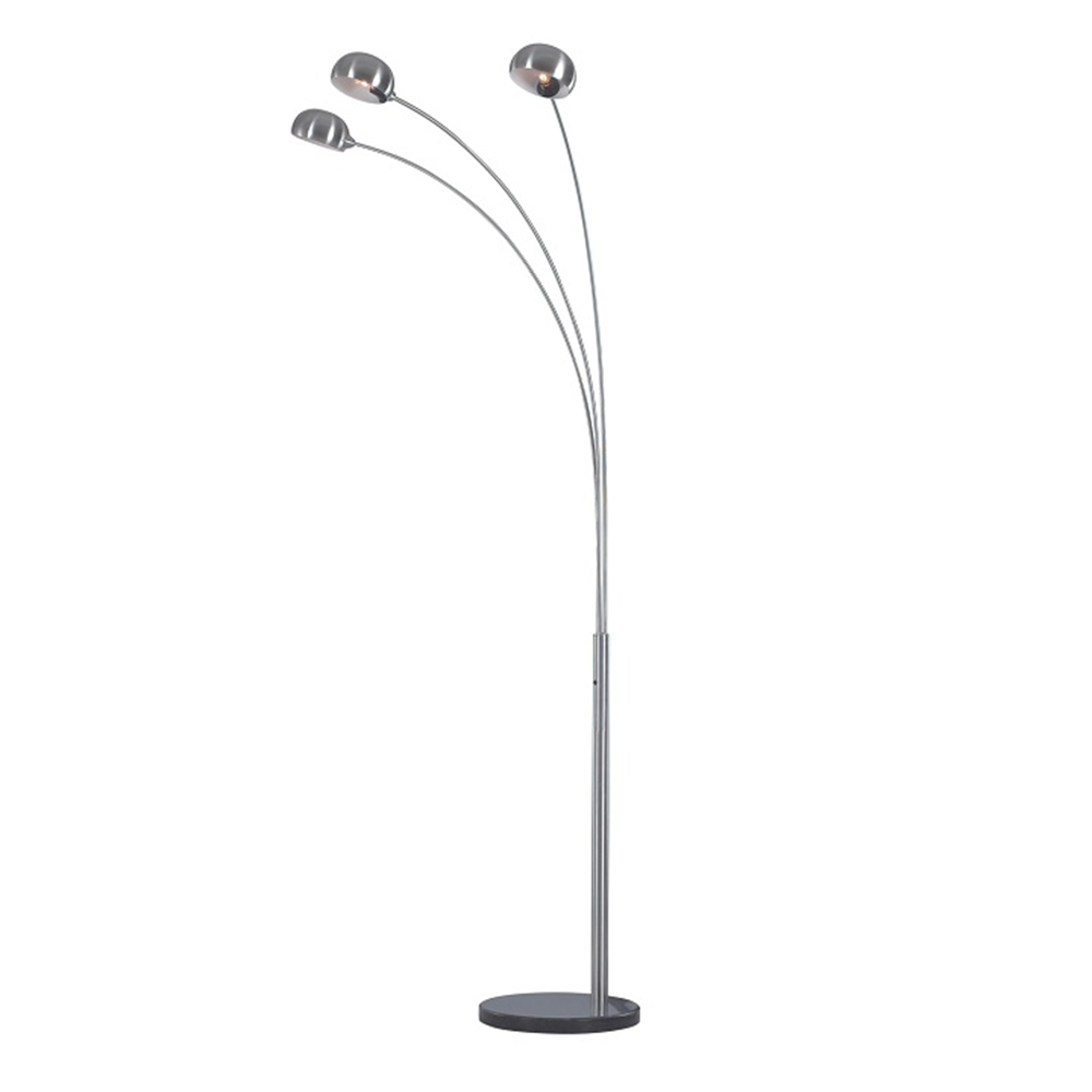 Lampă pe picior, metal gri/marmură, CINDA TYP 1 YF04-3