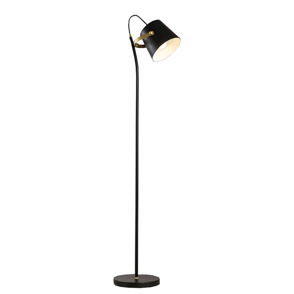 Stojacia lampa, čierna/bronz, CINDA TYP 3 YF6047