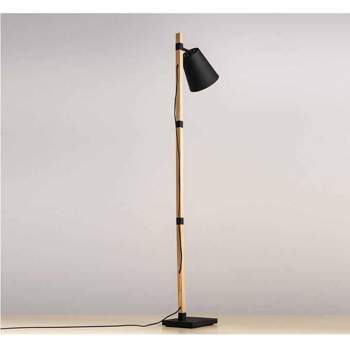 Stojacia lampa, čierna/bronz, CINDA Typ 4