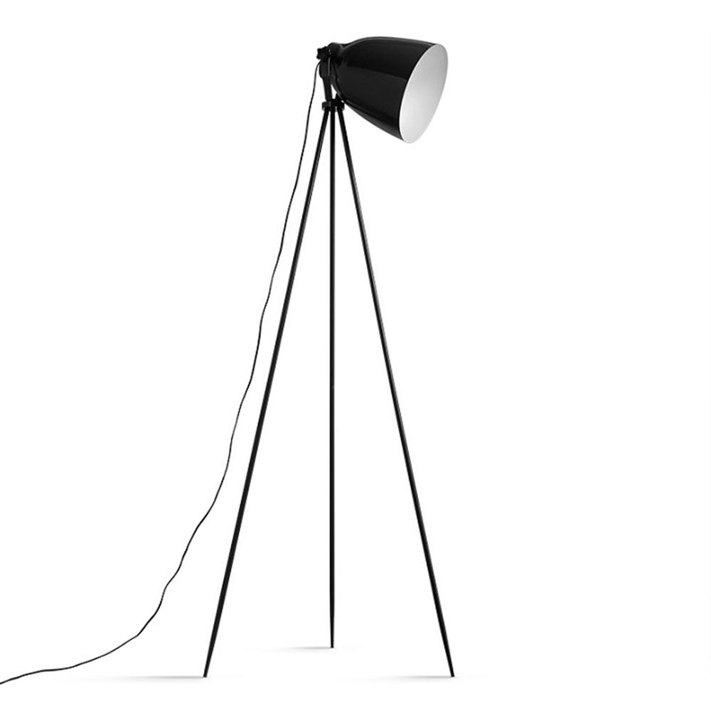 Stojacia lampa, čierny kov, CINDA Typ 5 YF6249