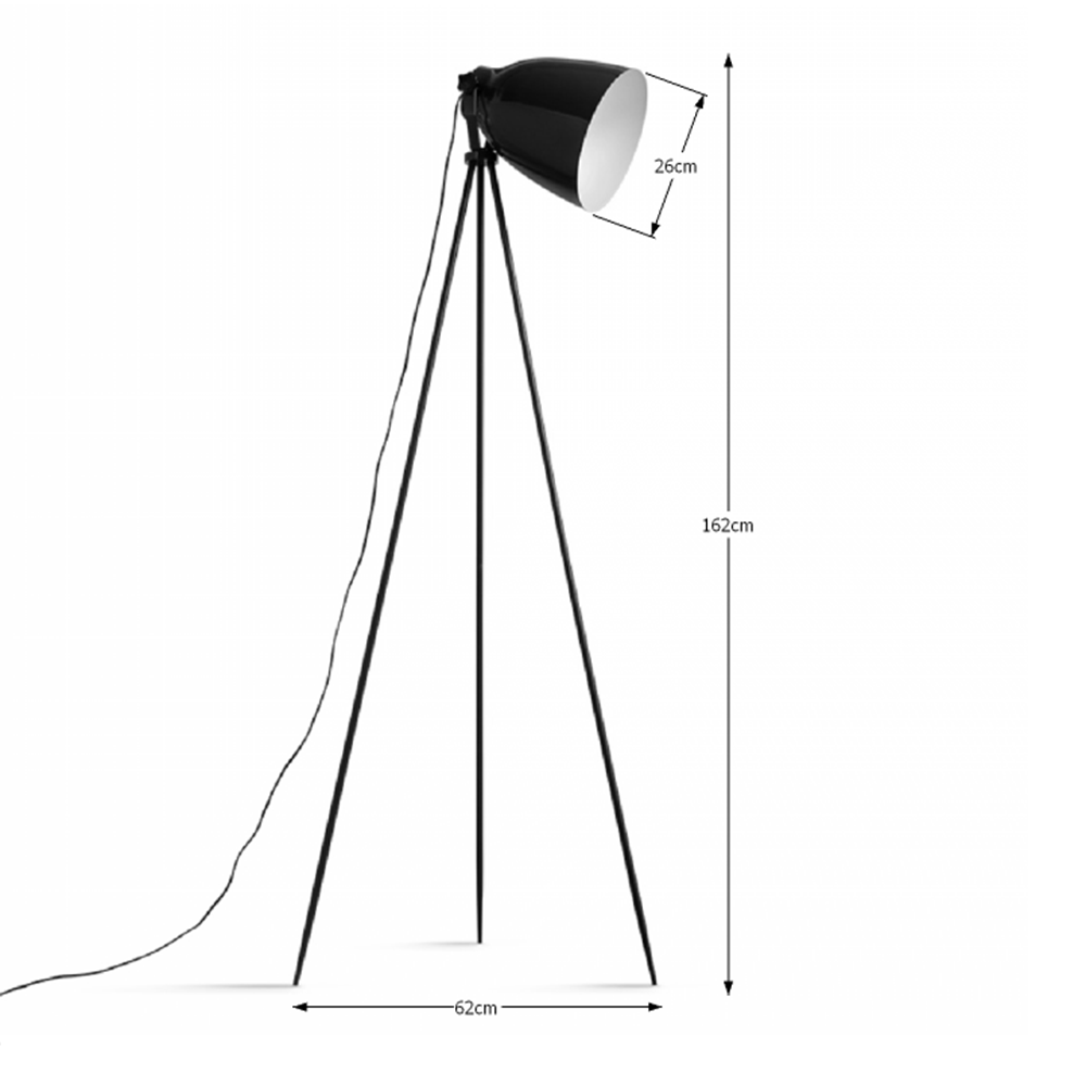 CINDA TYP 5 modern állólámpa, fekete / bronz