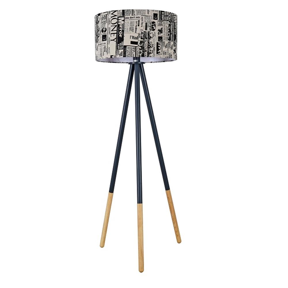 Állólámpa, fekete fém/anyag, CINDA TIP 6 YF6253