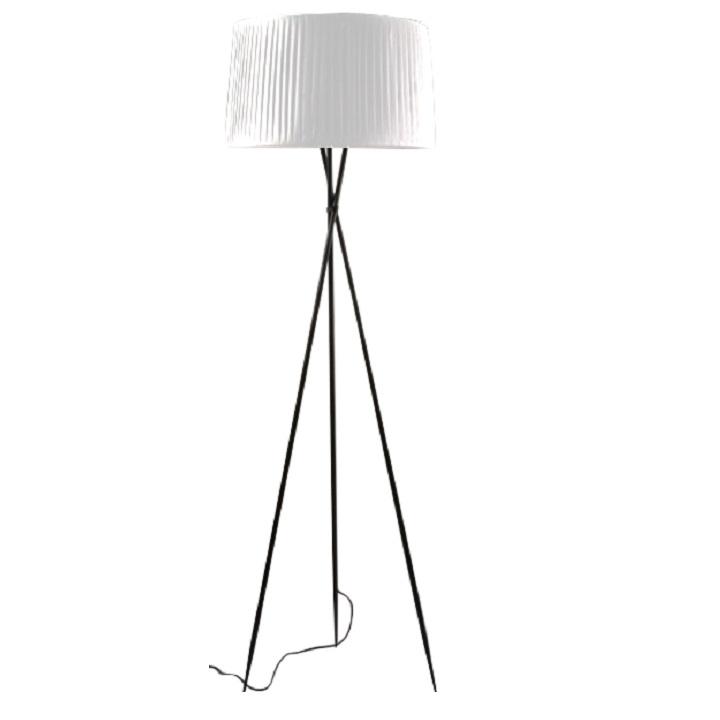 TEMPO KONDELA Stojacia lampa, kov/biele tienidlo, CINDA Typ 10 YF10W