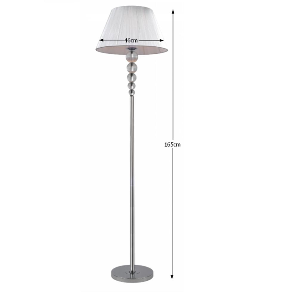 Lampă de podea, argintie, CINDA TYP 13 MEPIE