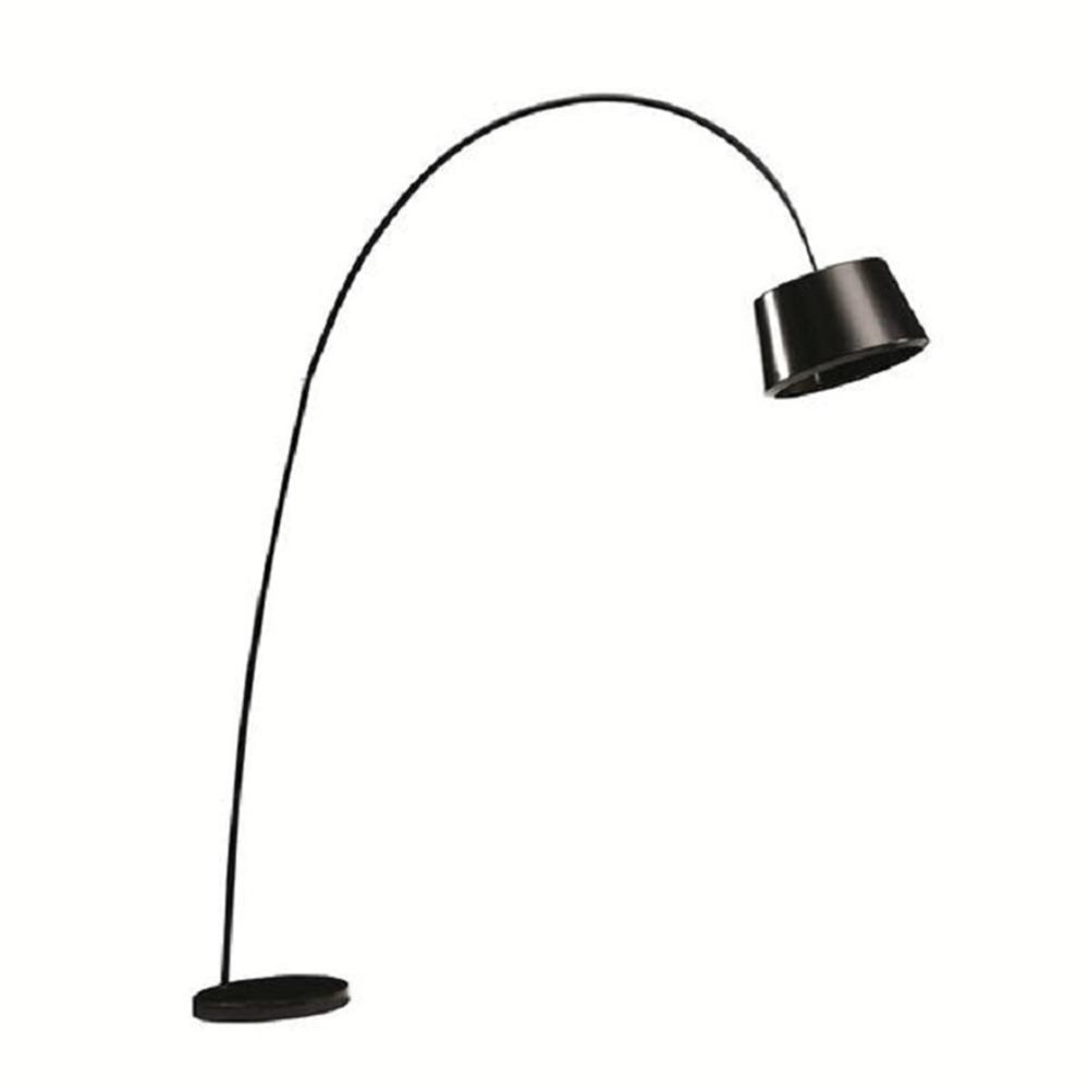 Oblúková lampa, čierna/mramor, CINDA TYP 18 F1090