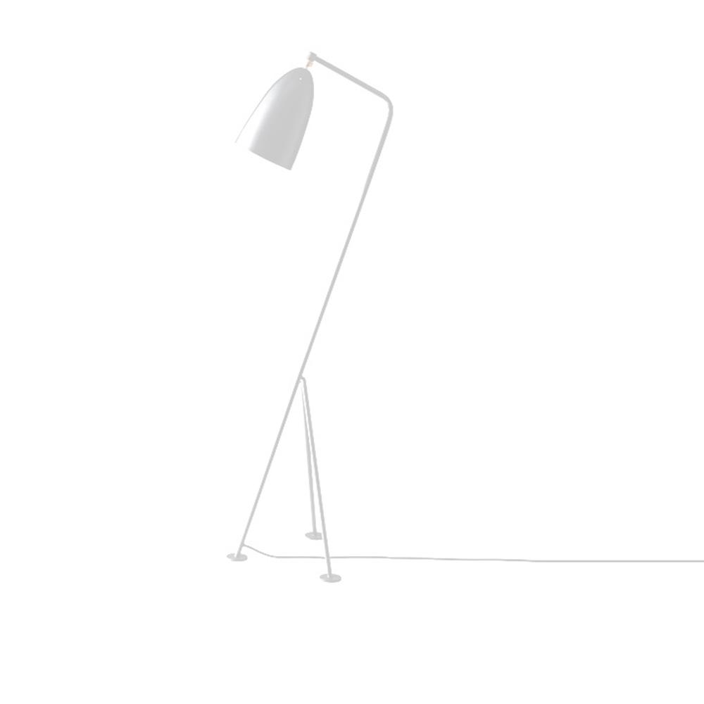 Állólámpa, fehér fém,  CINDA TIP 24 YF6250-W