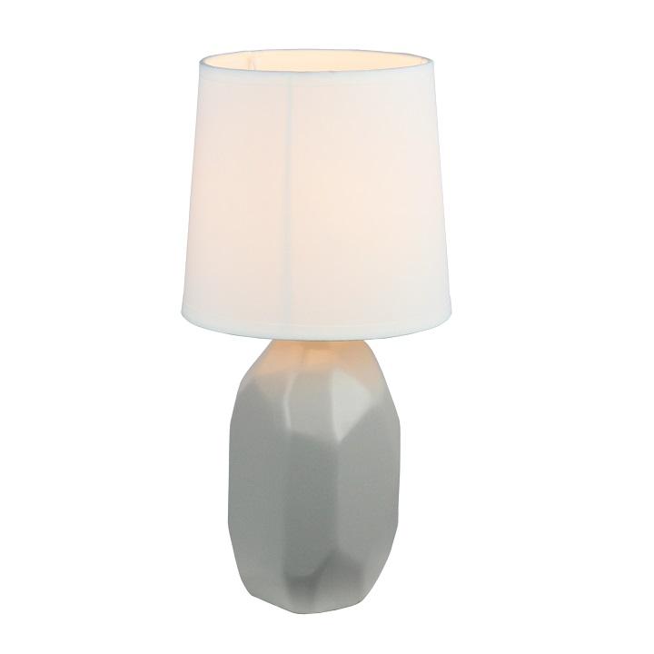 Keramická stolní lampa, šedá, QENNY TYP 2, TEMPO KONDELA