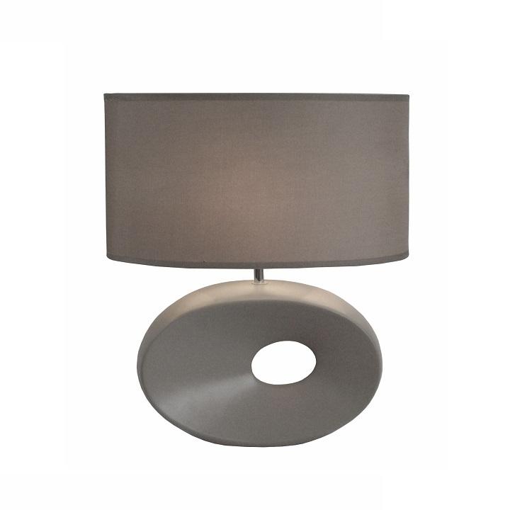 QENNY TYP 11 Asztali lámpa   Kivitelezés: szürke talpazattal ,szürke textil burával