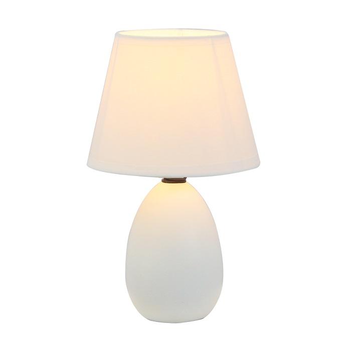 QENNY TYP 12 Asztali lámpa, kivitelezés: fehér talapzattal , fehér textilbúrával