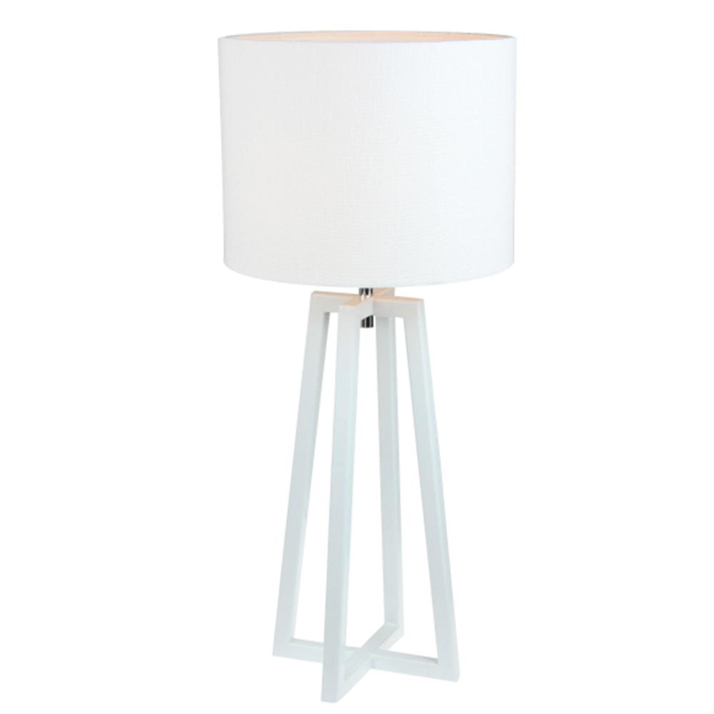 Stolní lampa, bílá, QENNY 14